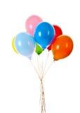 Vliegende geïsoleerder ballons Stock Afbeeldingen