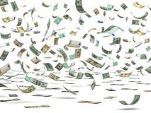 Vliegende Gelden Stock Afbeelding