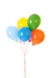 Vliegende geïsoleerde ballons Stock Fotografie