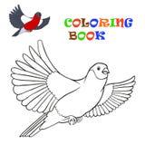 Vliegende goudvink - kleurend boek Stock Fotografie
