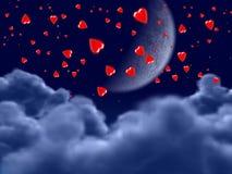 Vliegende harten Royalty-vrije Illustratie