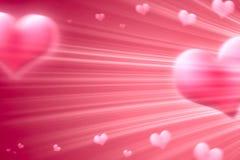 Vliegende harten stock illustratie