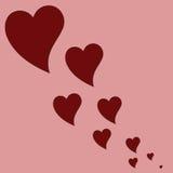 Vliegende harten. vector illustratie