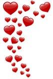 Vliegende harten Stock Afbeeldingen