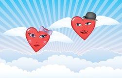 Vliegende harten. Stock Afbeeldingen