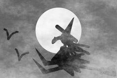 Vliegende heks stock illustratie