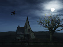 Vliegende heks Royalty-vrije Stock Foto's