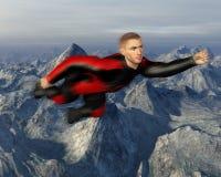 Vliegende het Cijferillustratie van de Superheroactie Stock Afbeeldingen
