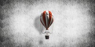 Vliegende hete luchtballon in de ruimte Royalty-vrije Stock Foto
