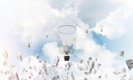 Vliegende hete luchtballons in de lucht Royalty-vrije Stock Foto