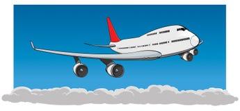 Vliegende Jumbojet royalty-vrije stock afbeelding
