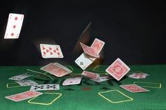 Vliegende kaarten Stock Afbeeldingen