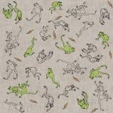 Vliegende kikkers Stock Afbeelding