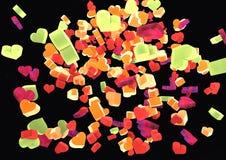 Vliegende kleurenharten Stock Afbeelding