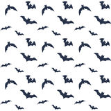 Vliegende knuppels op wit Halloween-patroonontwerp voor verpakkend document royalty-vrije illustratie