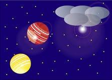 Vliegende lantaarn - illustratie Stock Fotografie