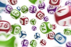 Vliegende loterijballen Royalty-vrije Stock Foto's