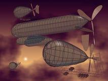 Vliegende machines Stock Afbeelding