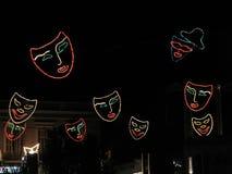 Vliegende Maskers Royalty-vrije Stock Fotografie