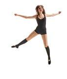 Vliegende meisjesdanser Het springen Stock Fotografie