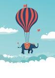 Vliegende olifant Stock Afbeeldingen