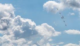 Vliegende oorlogsvliegtuigen Royalty-vrije Stock Foto's