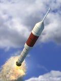 Vliegende raket Stock Afbeelding