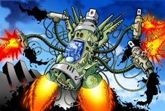 Vliegende Robot royalty-vrije illustratie