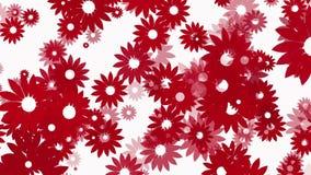 Vliegende rode bloemen op wit royalty-vrije illustratie