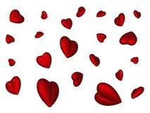 Vliegende rode harten stock illustratie