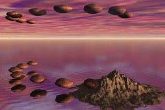 Vliegende rotsen Royalty-vrije Stock Fotografie