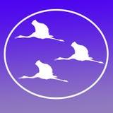 Vliegende Sarus-Kranen Logo Background Icon General Purpose stock illustratie