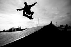 Vliegende schaatser royalty-vrije stock afbeelding
