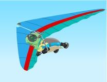 Vliegende schildpad royalty-vrije illustratie