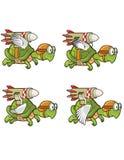 Vliegende Schildpad met Rocket Sprite Royalty-vrije Stock Fotografie