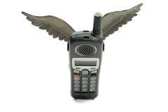 Vliegende Telefoon Stock Afbeeldingen