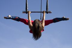 Vliegende Trapeze royalty-vrije stock foto