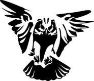 Vliegende uil Royalty-vrije Stock Afbeelding