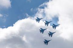 Vliegende vechtersstralen Royalty-vrije Stock Afbeelding