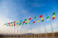 Vliegende vlag Royalty-vrije Stock Foto's