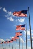 Vliegende vlaggen Royalty-vrije Stock Foto's