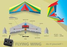 Vliegende vleugel Royalty-vrije Stock Afbeelding