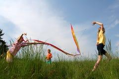 Vliegende vlieger Royalty-vrije Stock Foto's