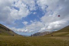 Vliegende vlieger in Buttermere Stock Foto's