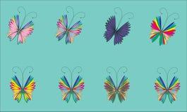 Vliegende vlinder op een blauwe achtergrond Stock Afbeelding