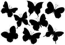 Vliegende vlinders vectorillustratie Stock Afbeeldingen