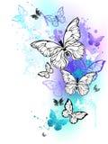 Vliegende vlinderswaterverf Royalty-vrije Stock Afbeeldingen
