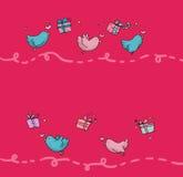 Vliegende vogelspagina Stock Foto
