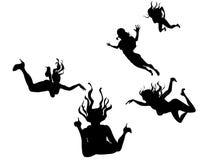 Vliegende Vrouwen Stock Foto
