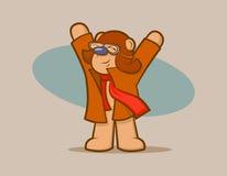 Vliegenier Bear Royalty-vrije Stock Fotografie